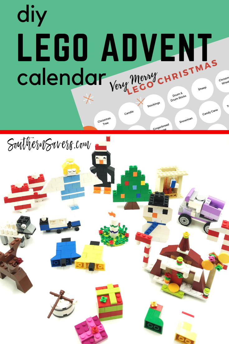 graphic relating to Advent Calendar Printable known as Do it yourself Lego Introduction Calendar Printable! :: Southern Savers