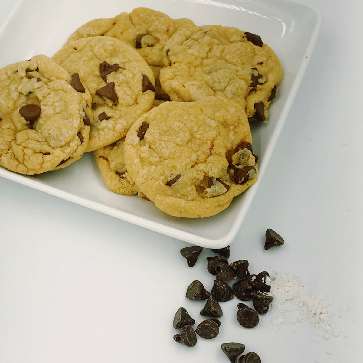 The perfect soft chocolate chip cookie even hours after it's cooled!