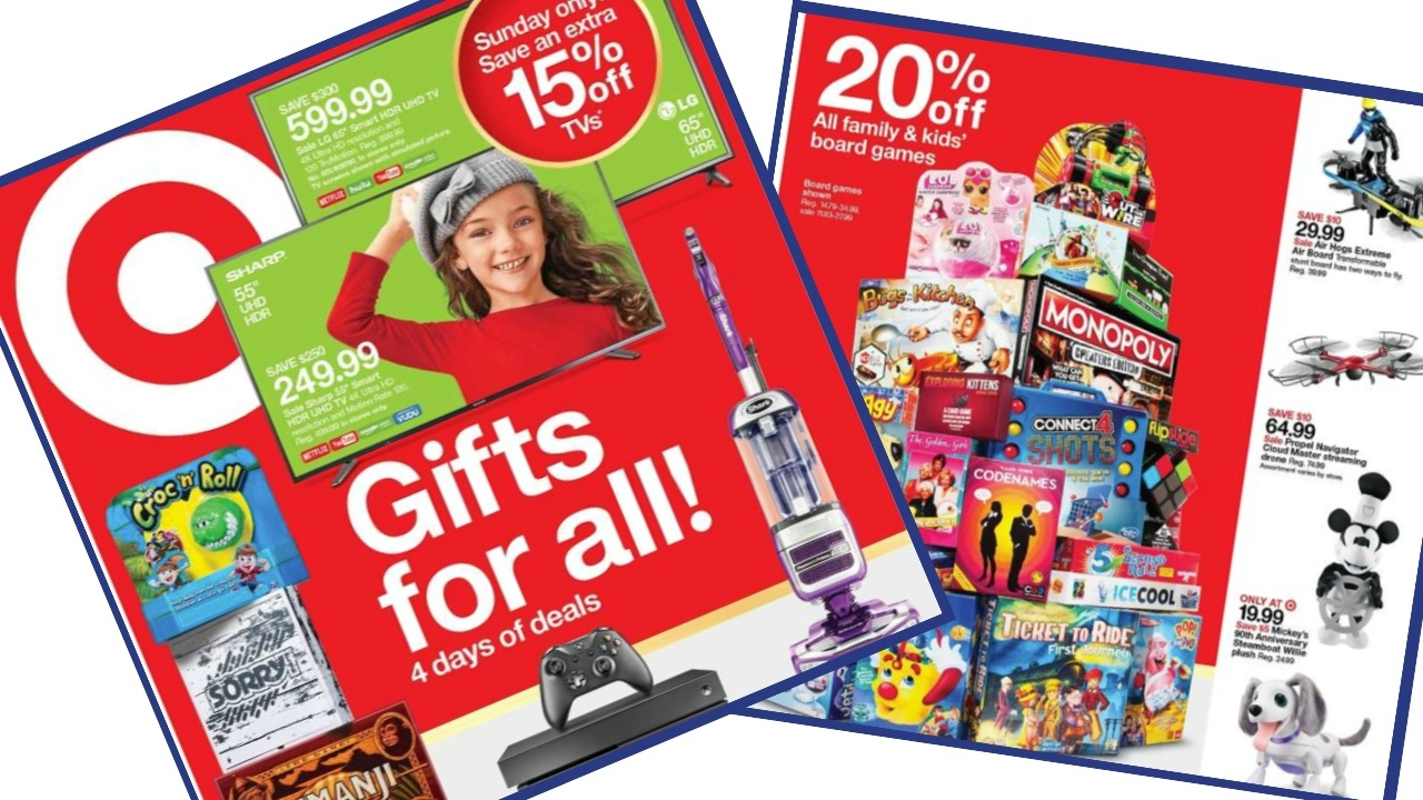 089c3aa75 Here are all the deals in the Target Ad that starts Sunday 11/18. It's a  short 4 day since they have a separate Black Friday Ad. There are some fun  deals in ...
