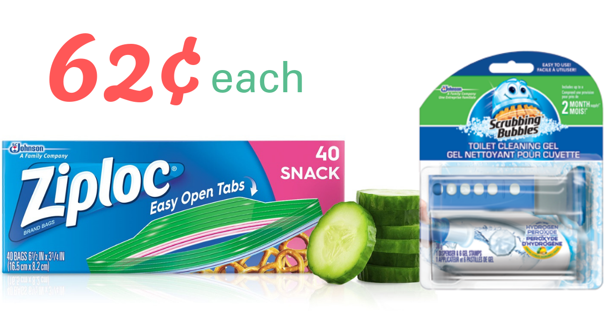 photo about Ziploc Printable Coupons named CVS Offer Ziploc Luggage Scrubbing Bubbles for 62¢ Each and every