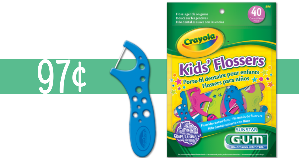 picture about Crayola Coupons Printable identify Gum Crayola Coupon Creates Children Flossers 97¢ :: Southern Savers