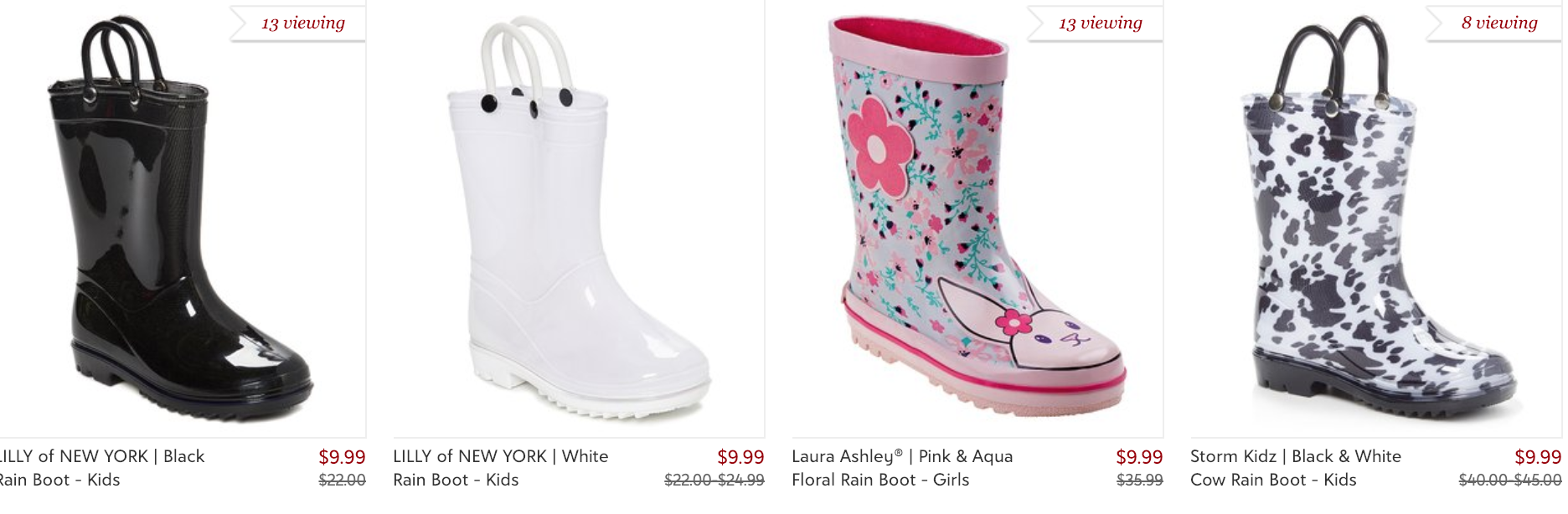 Kids Rain Boots Only $9 99 (reg  $25+) at Zulily :: Southern
