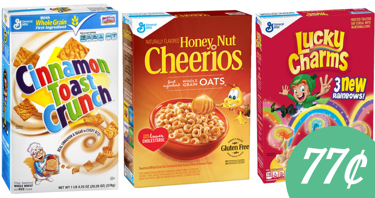 photo regarding Printable Cereal Coupons called In general Mills Coupon Generates Cereal 77¢ :: Southern Savers