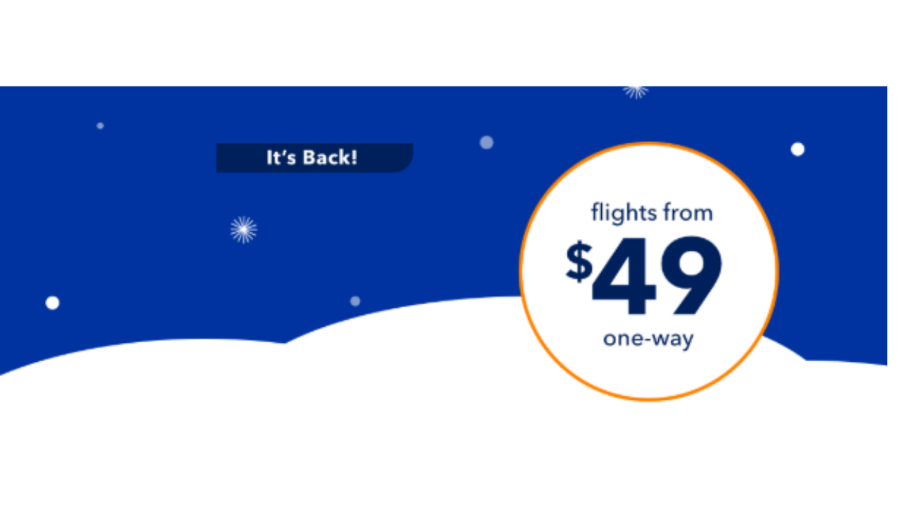jetblue winter sale flights from 49 southern savers. Black Bedroom Furniture Sets. Home Design Ideas