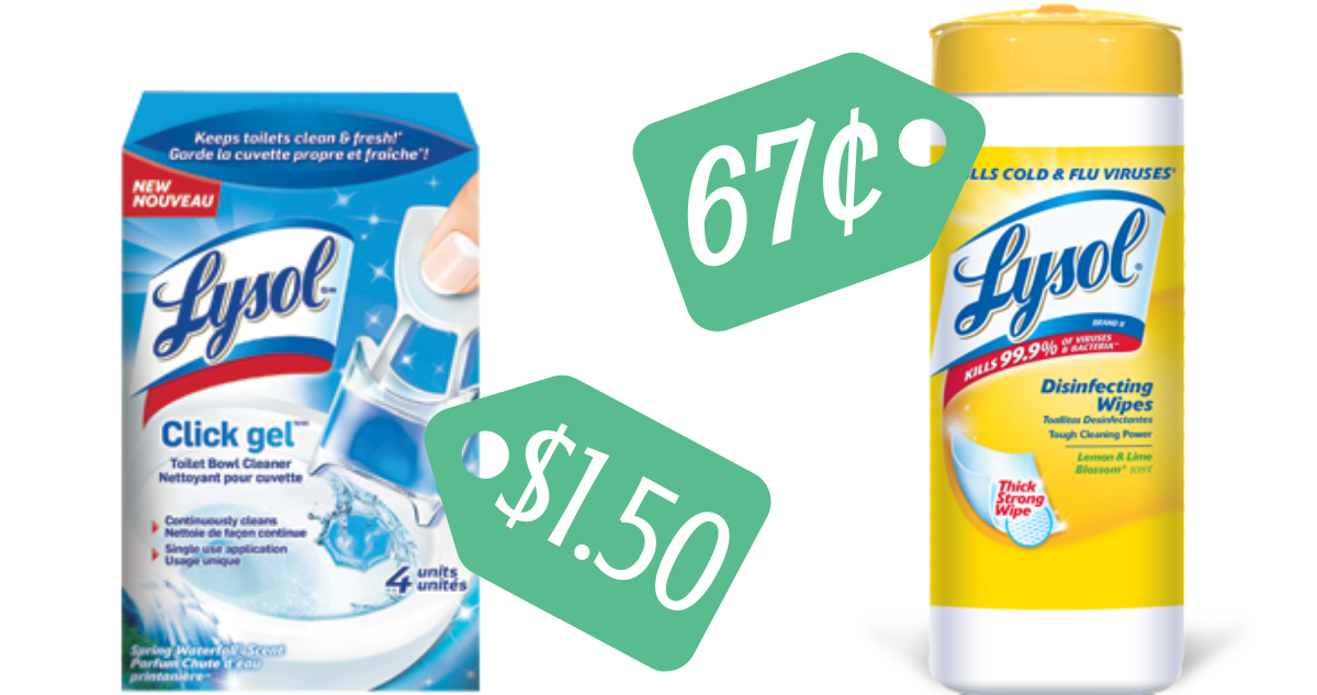 image about Lysol Printable Coupons identified as Lysol Discount coupons Will make Disinfecting Wipes 67¢ :: Southern Savers