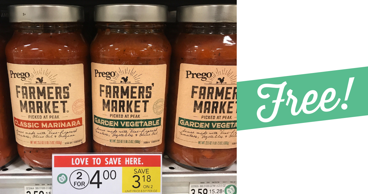 photograph about Prego Printable Coupons identified as Prego Coupon Tends to make Farmers Sector Sauce Cost-free! :: Southern