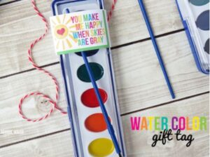 watercolor gift tag