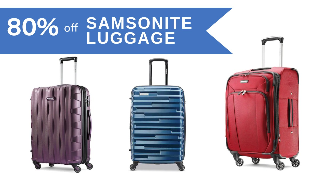 78fc8b831 Snag great deals on Samsonite Luggage this weekend at Kohls.com. They have Samsonite  Luggage up to 50% off, plus we've got huge stacking coupons to pair in!