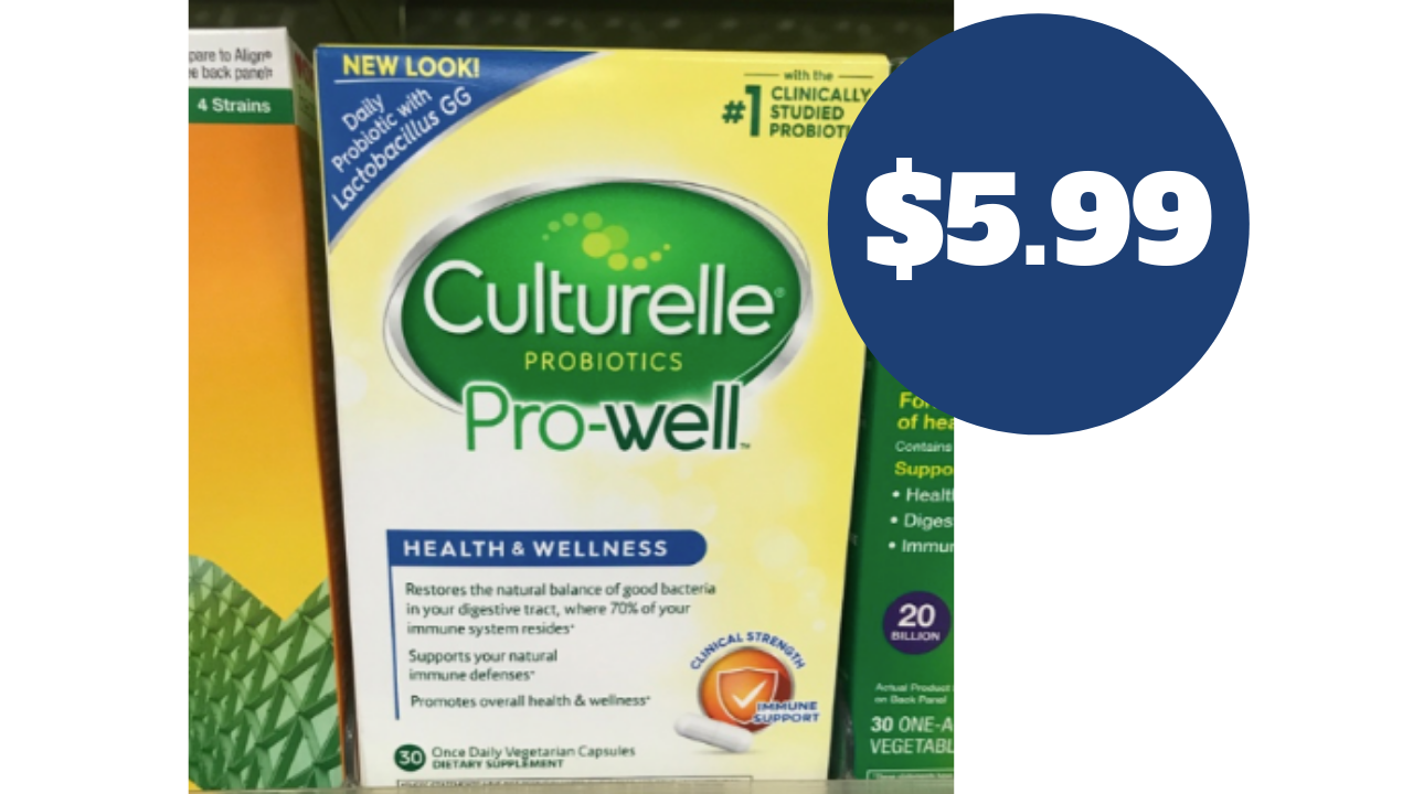 picture relating to Culturelle Coupon Printable identified as Culturelle Probiotic, $5.99 (reg. $23.99!) :: Southern Savers