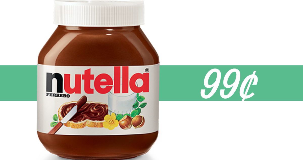 image about Nutella Printable Coupon named Nutella Coupon Produces it 99¢ at Walgreens Starting up 2/24