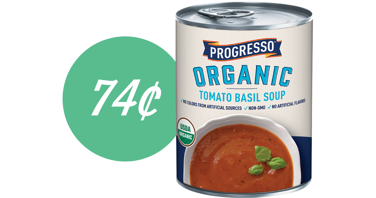 image relating to Printable Progresso Soup Coupons named Progresso Coupon Produces Natural and organic Soup 74¢ :: Southern Savers