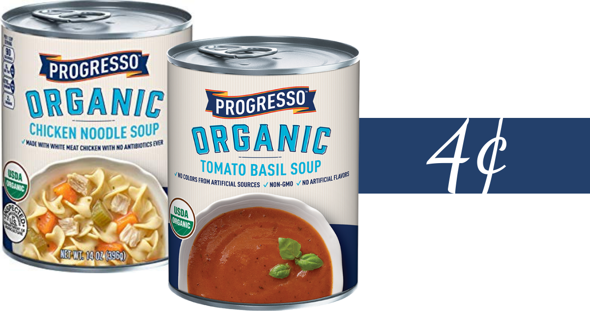 photograph relating to Printable Progresso Soup Coupons identified as Progresso Coupon Produces Organic and natural Soup 4¢ :: Southern Savers