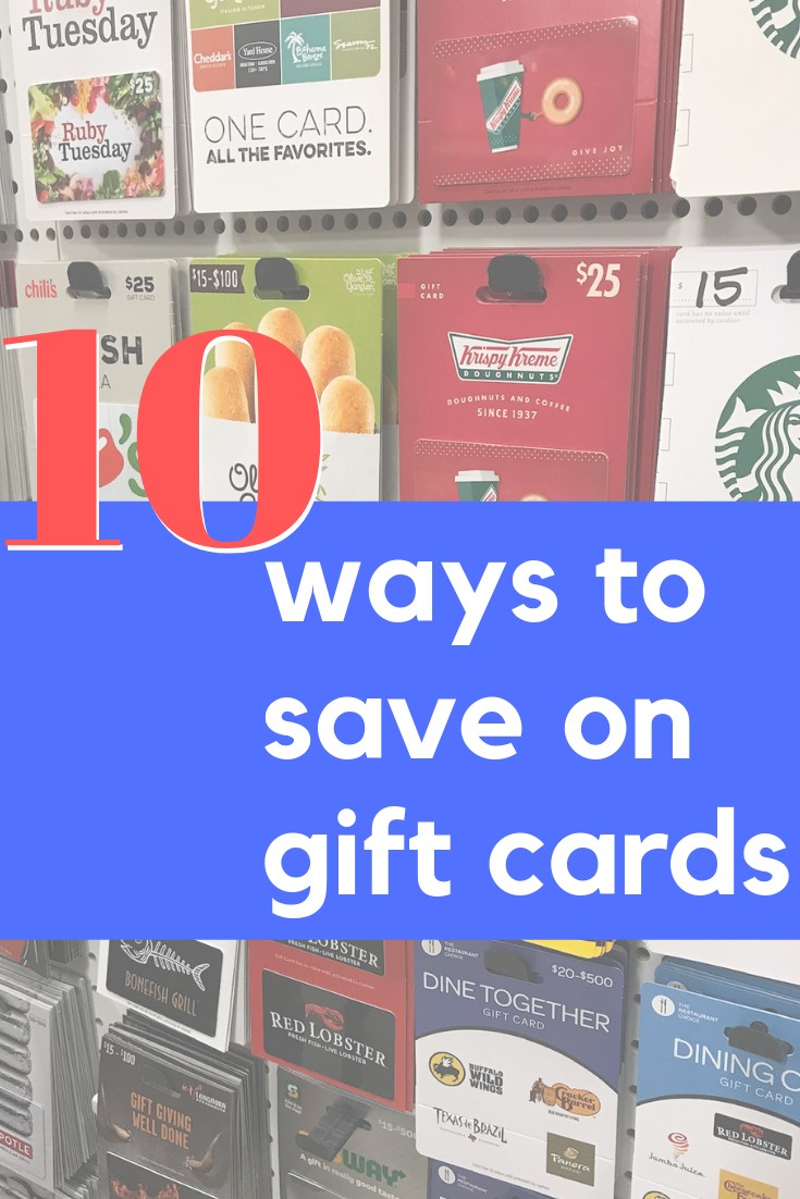 We live the gift card life!  If a store offers one you can bet I will be hunting for a discounted gift card before we eat or shop there.  Check out our 10 favorite ways to save money on Gift Cards and build a gift card wallet!