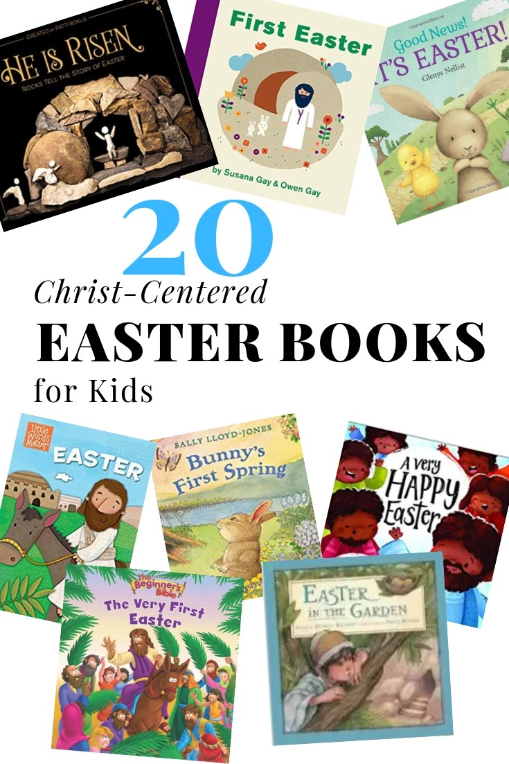 Save time at the library or bookstore by checking out our list of 20 Christ-centered Easter books for kids! Focus on the true message of Easter this year!