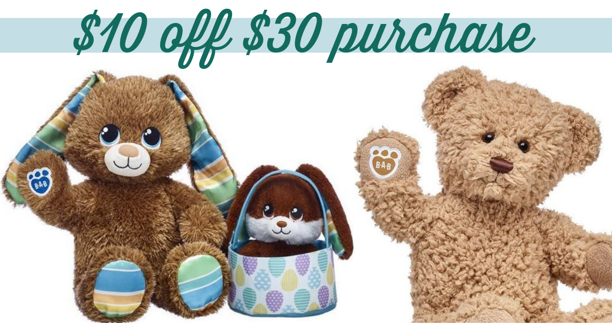 Build-A-Bear Coupon Code | $10 off $30 Purchase :: Southern