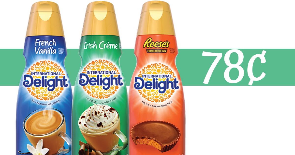International Delight Creamer $0.78 at Walmart