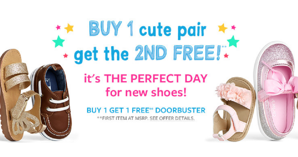 BOGO Shoes at Carter's :: Southern Savers