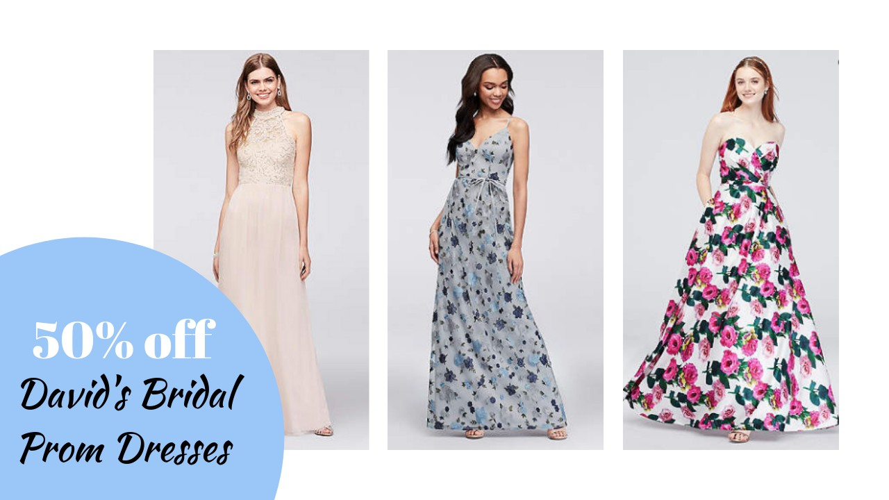1704341dce7b Today only, David's Bridal has 50% off select Prom Dresses, plus you can  stack the sale with a new coupon code! Grab Prom dresses as low as $29!