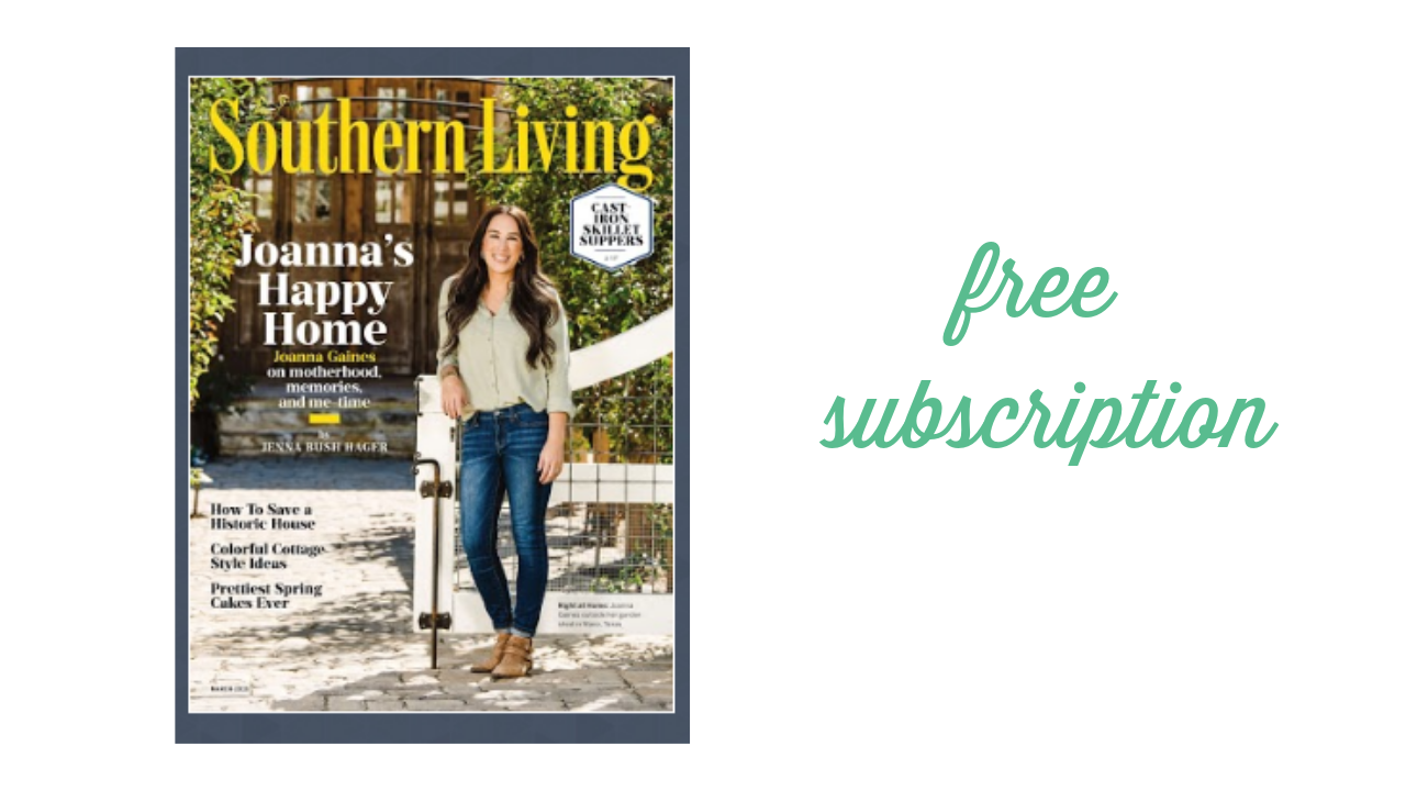 Magnificent Free 2 Year Southern Living Magazine Subscription Download Free Architecture Designs Lukepmadebymaigaardcom