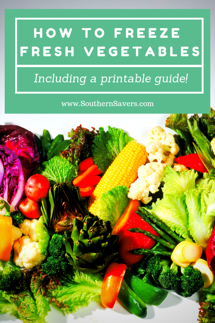 Summer is coming which means the potential for lots of fresh vegetables! Learn how to freeze fresh vegetables so you can enjoy them all year long.