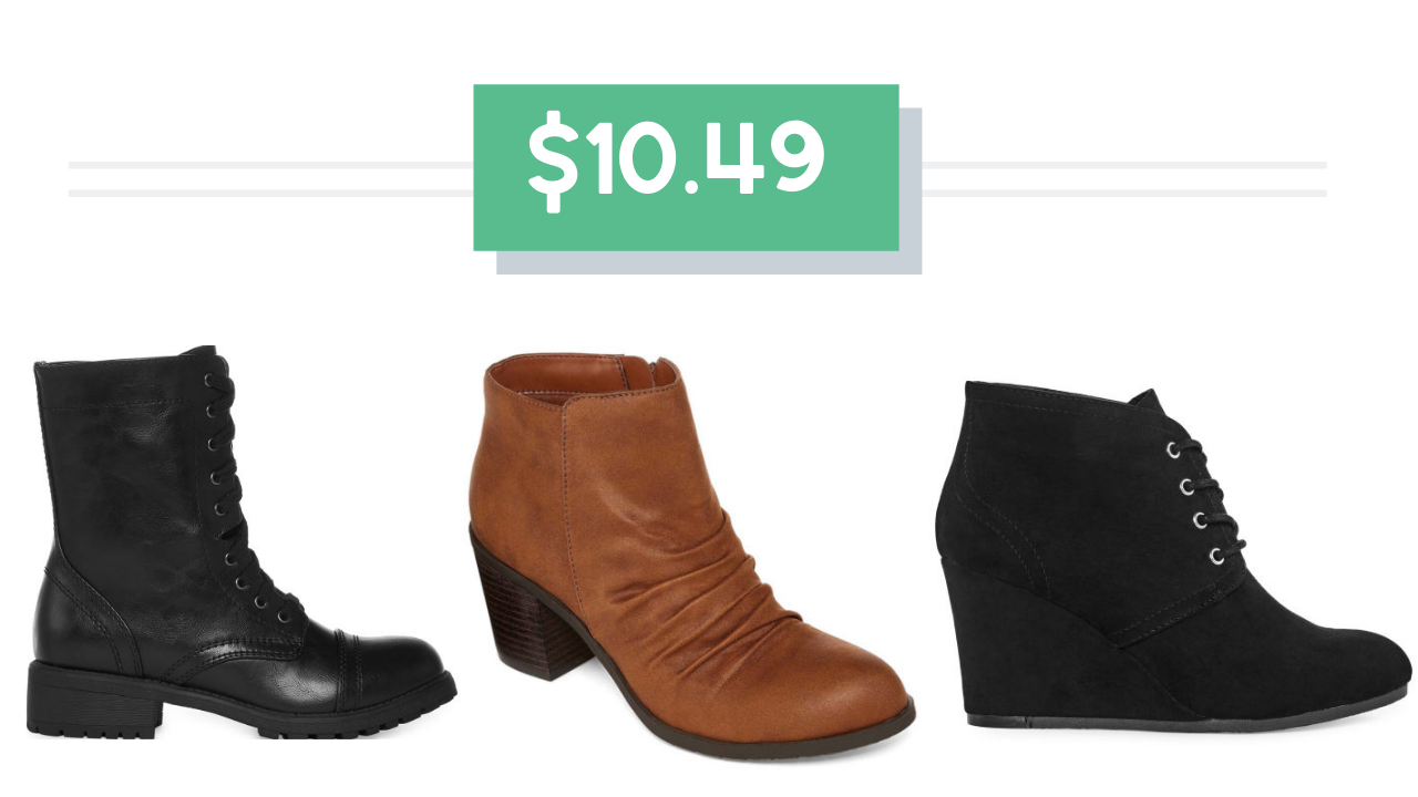 f68d7eea73dff Need a new pair of boots  JCPenney has some great styles on clearance that  can be paired with coupon code RAK726!