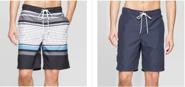 dc0a4ee69c57c Men's Goodfellow and Co Striped Swim Trunks, $19.99. Men's Goodfellow and  Co Solid Swim Trunks, $19.99 makes it $29.98 or $14.99 ea.