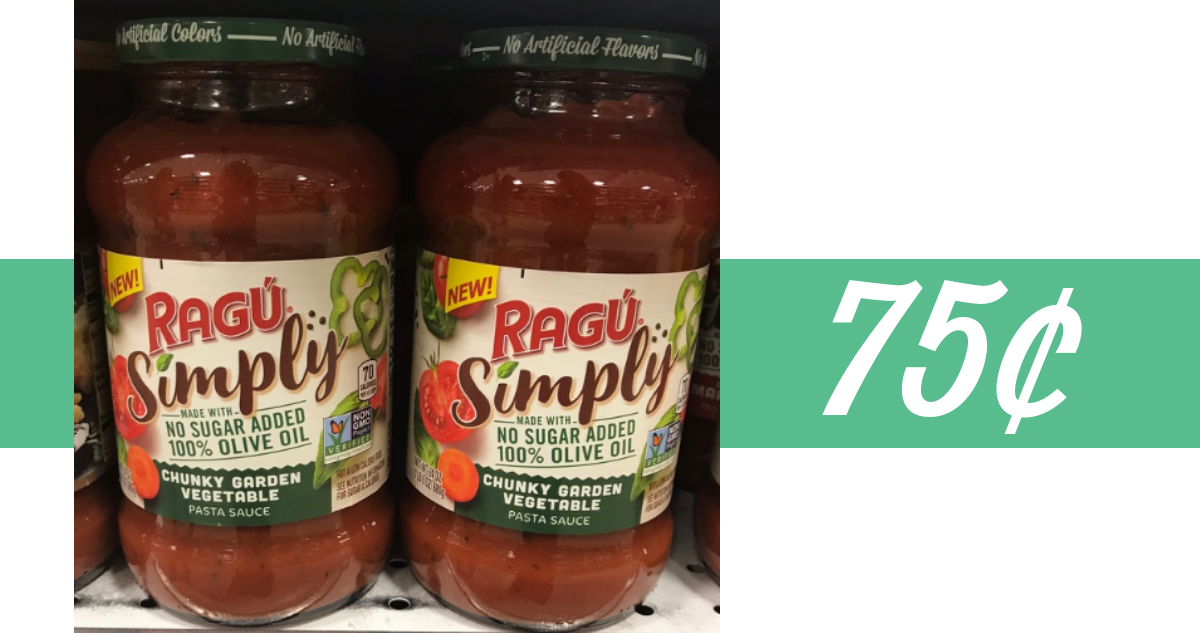 picture about Ragu Printable Coupons known as Ragu Coupon Conveniently Pasta Sauce for 75¢ :: Southern Savers