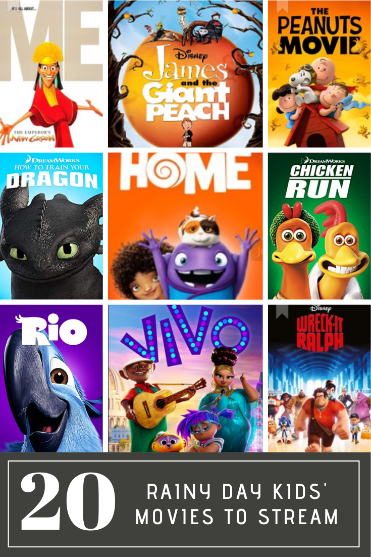 Next time there's a rainy day and your kids have cabin fever, check out this list of 20 rainy day movies for kids you can stream!