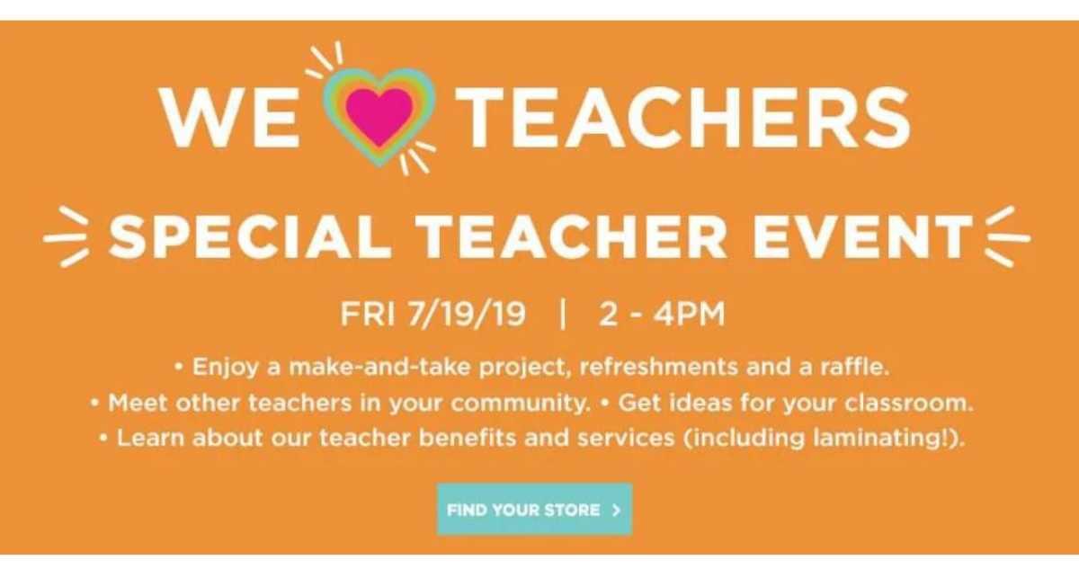teacher event