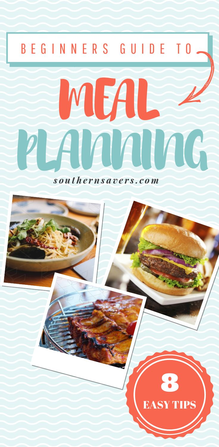 Meal planning saves a ton of money and time.  Don't keep putting it off, here are 8 easy tips to start meal planning!  You'll love having