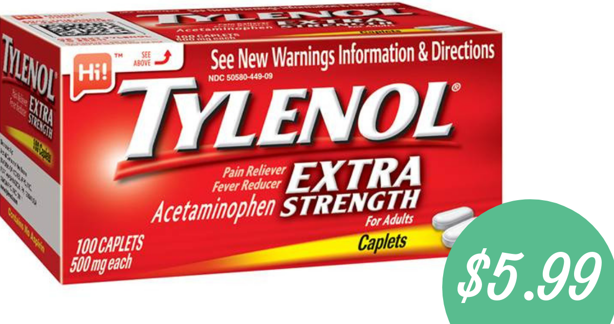 graphic about Tylenol Printable Coupon named Tylenol Coupon Helps make 100 Depend Box $5.99 :: Southern Savers