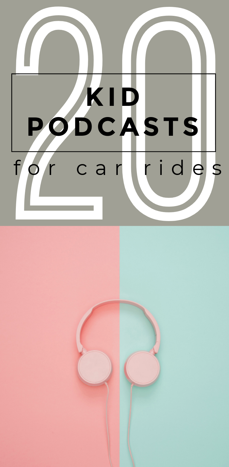 When your kids get tired of reading or playing car games on your next trip, check out one of these top 20 kid podcasts for car rides for free entertainment!