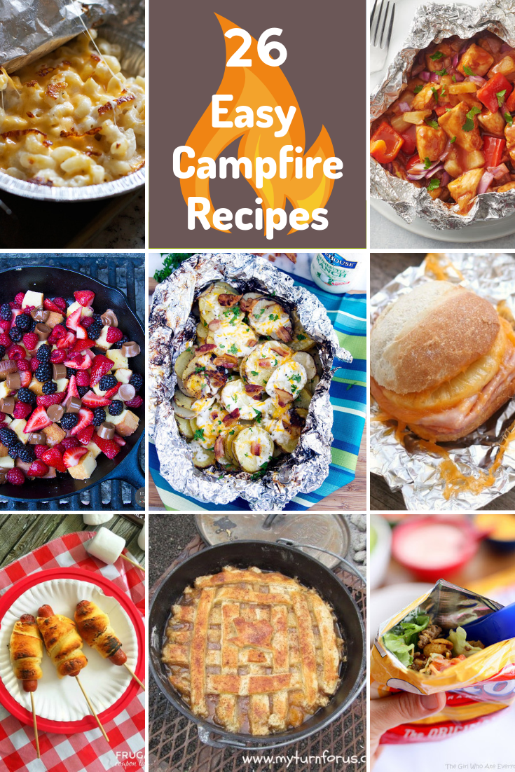 For our family, warmer weather means camping. Be inspired by these 26 easy campfire recipes for your family to enjoy around the fire!