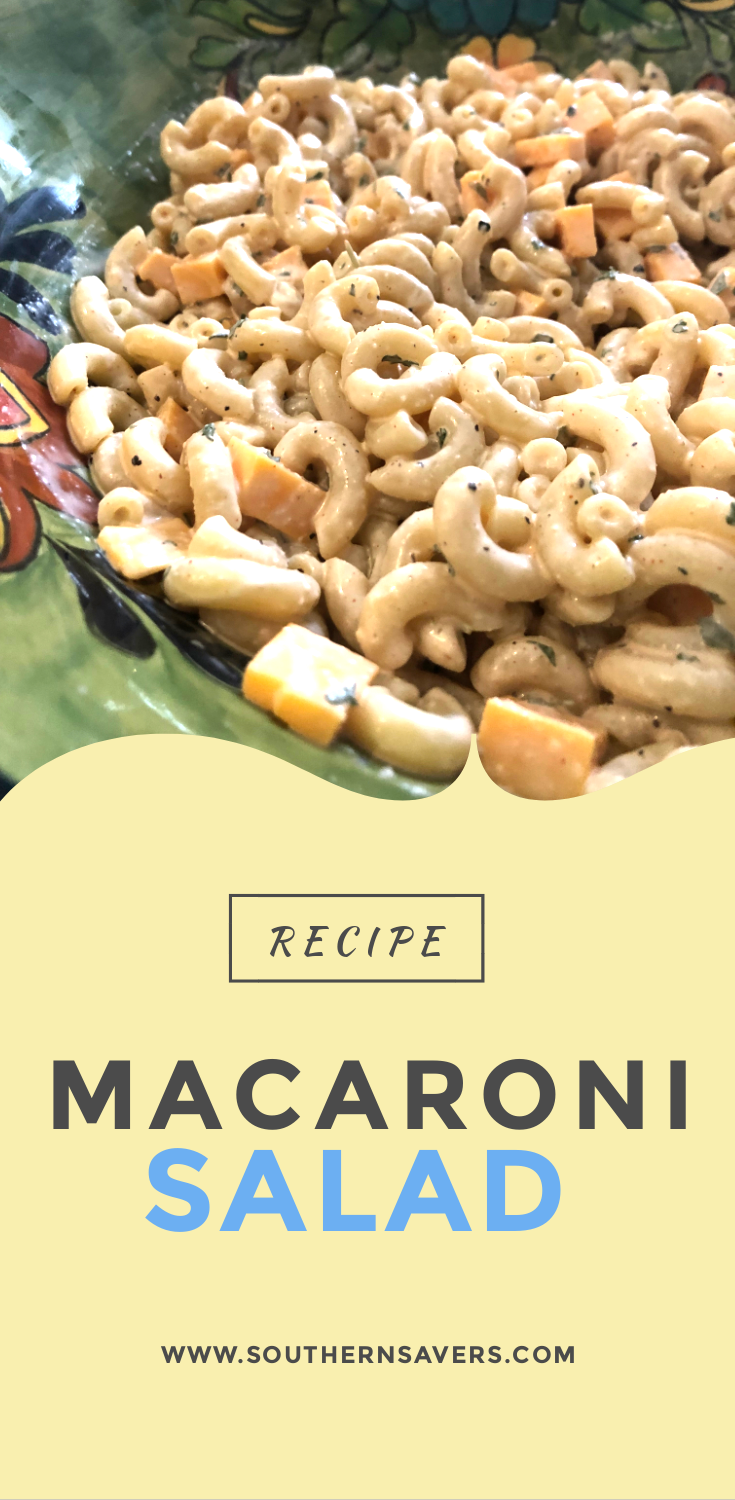 Need a last minute side dish for a picnic? This macaroni salad recipe can be thrown together in 20 minutes, and you probably have the ingredients on hand!