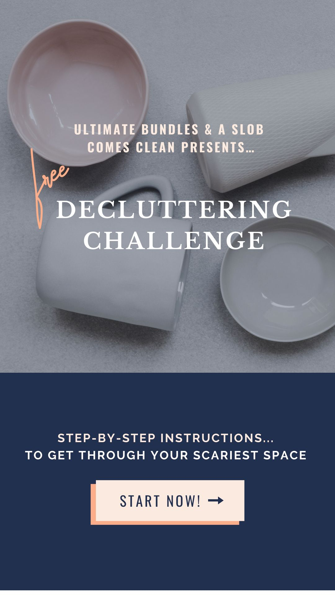 Join in the FREE Declutter Your Scariest Place Challenge this week, with free printable worksheets and guides to help you tackle that crazy corner, cabinet or closet.