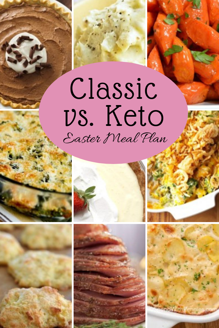 Trying to keep people on different diets happy at a holiday dinner can be hard. Check out our classic vs. keto Easter meal plan to see options for everyone!