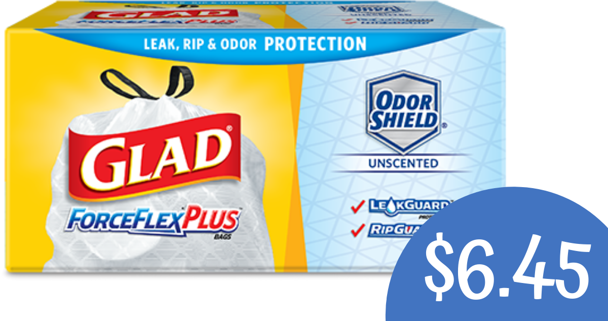 photograph relating to Glad Trash Bags Printable Coupon called Contented Trash Baggage Coupon Would make it $6.45 :: Southern Savers