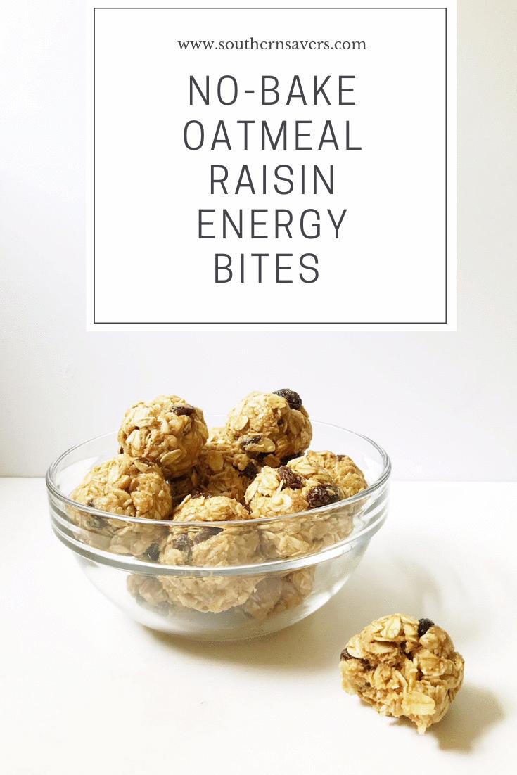 No-Bake Oatmeal Raisin Energy Bites