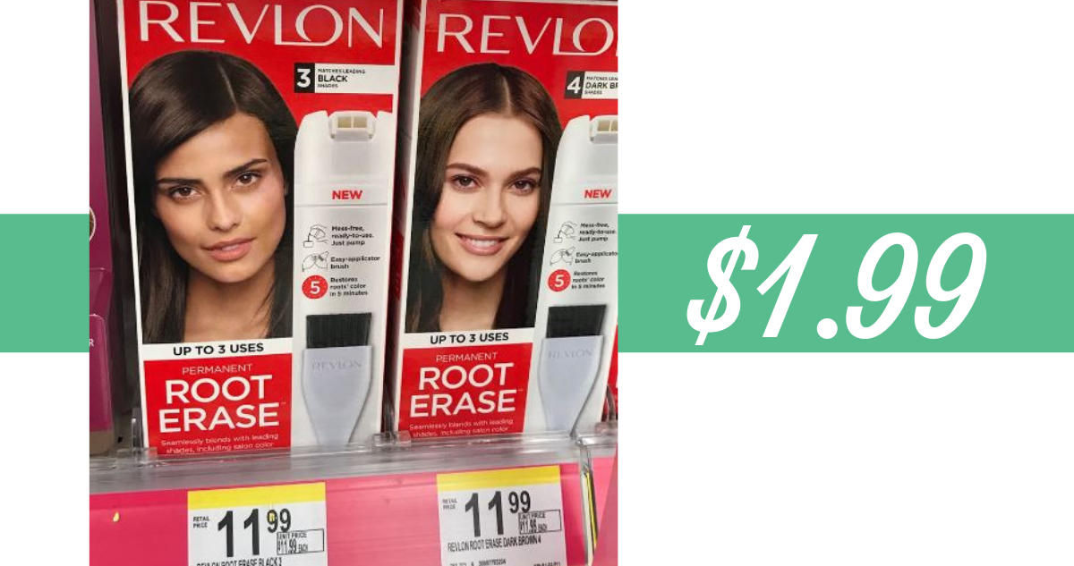 graphic about Revlon Printable Coupon referred to as Revlon Coupon Produces Root Erase Hair Coloration $1.99