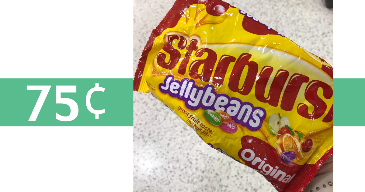 image about Jelly Belly Logo Printable called Starburst Jelly Beans Starting off at 75¢ :: Southern Savers