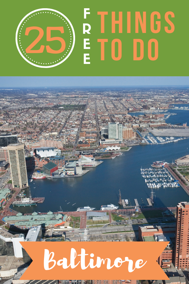 Full of history, culture and magnificent outdoor settings, this is a city you can enjoy on a budget. See our top 25 free things to do in Baltimore!