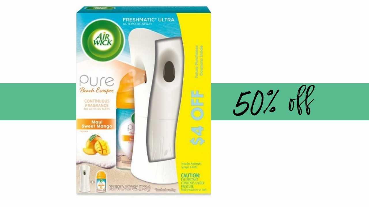 c02001fa3ed Air Wick Freshmatic Starter Kit  50% Off at Target!