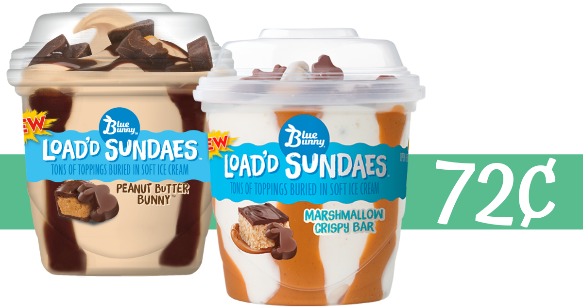 blue bunny sundae ice cream cups