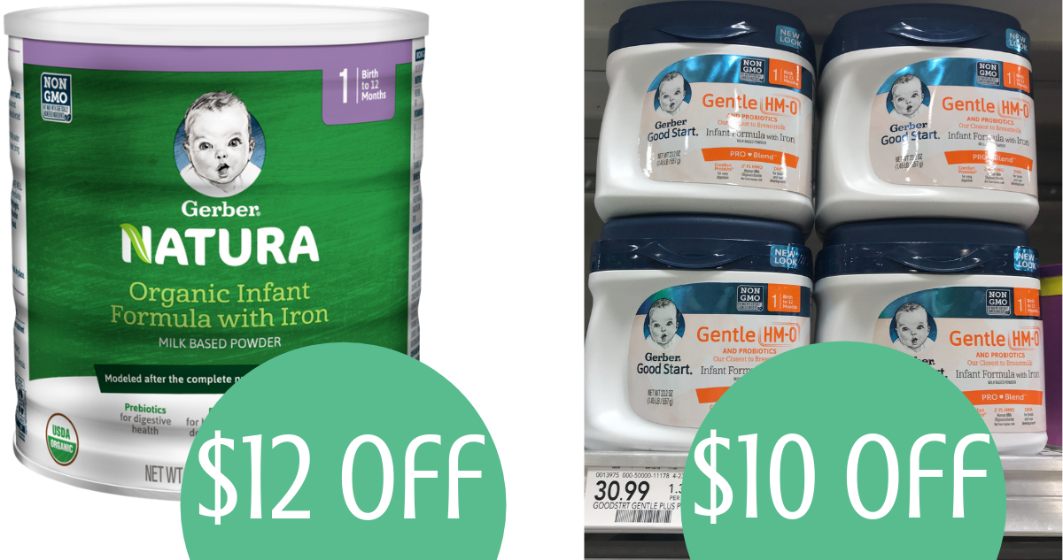 graphic about Printable Formula Coupons called Gerber Components Coupon Up towards $12 off Method :: Southern Savers
