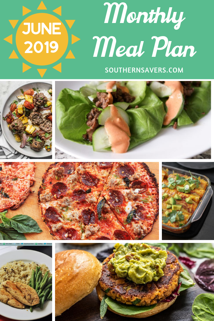 Don't throw meal planning out the window just because it's summer. Use our June monthly meal plan to help keep a little bit of structure in your summer!