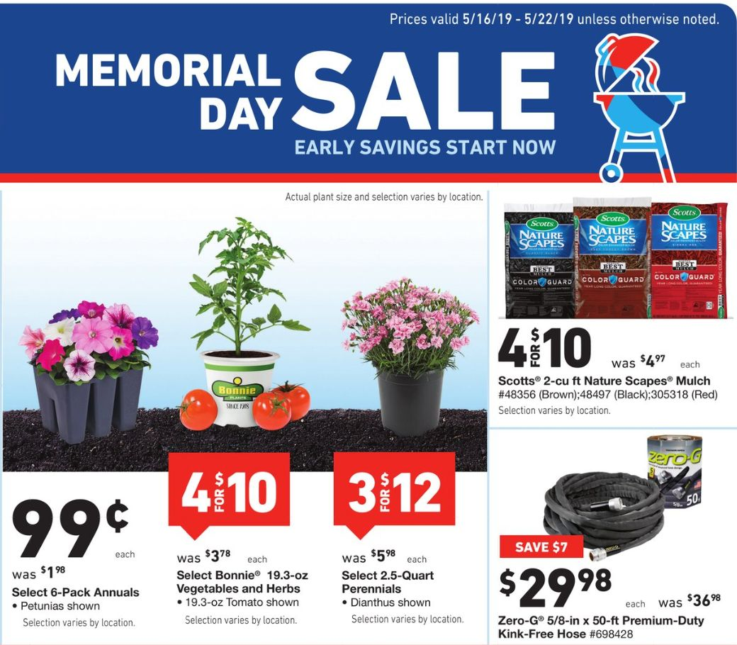 Lowes Memorial Day Sale 25 162 Pavers 99 162 Plants