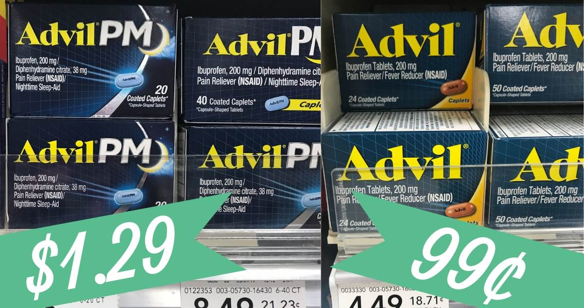 graphic relating to Advil Printable Coupon identified as Advil Discount coupons Creates it 49¢ at Publix :: Southern Savers