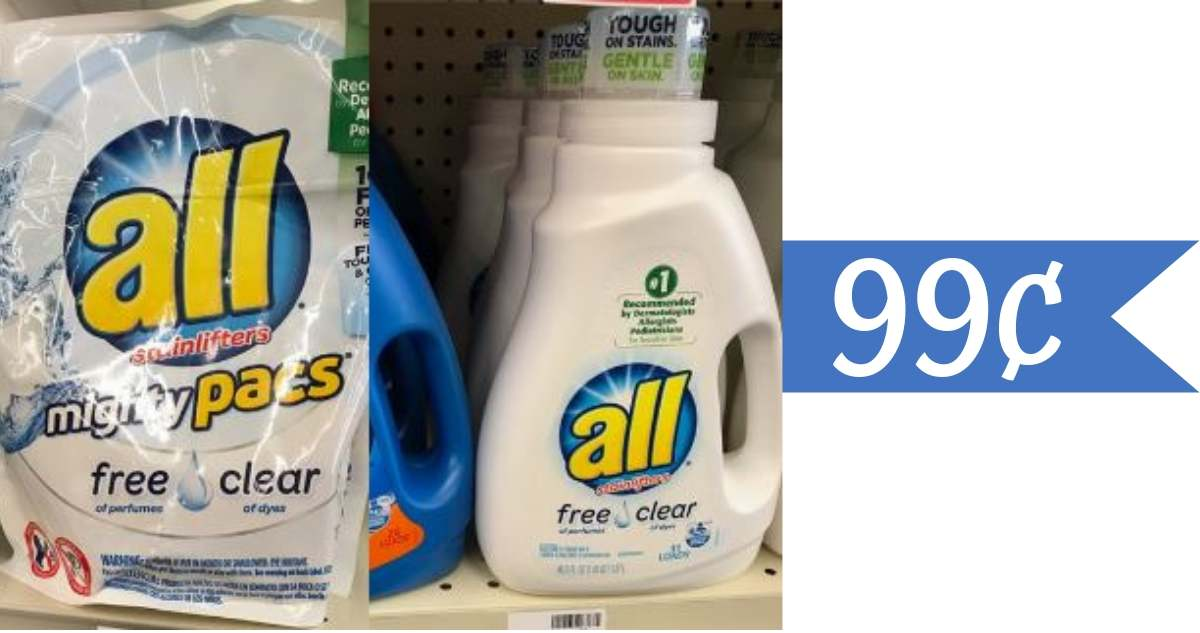 graphic regarding All Laundry Detergent Printable Coupons referred to as 99¢ All Laundry Detergent at Kroger with Mega Function
