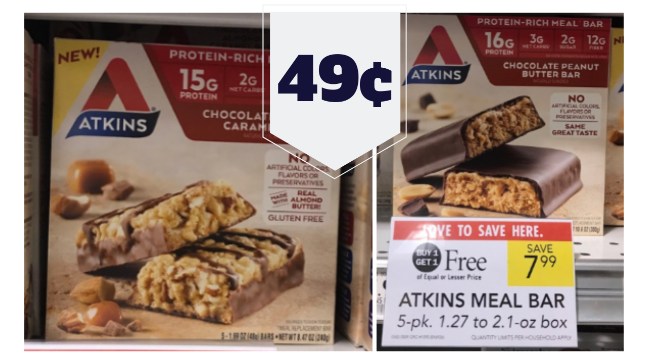 photo regarding Atkins Coupon Printable titled Unusual Atkins Bars BOGO at Publix Bars As Small As 49