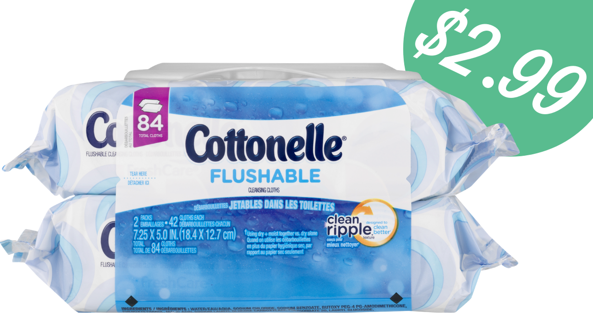 picture about Cottonelle Coupons Printable identified as Cottonelle Discount codes Results in Flushable Wipes $1.49 For every Pack